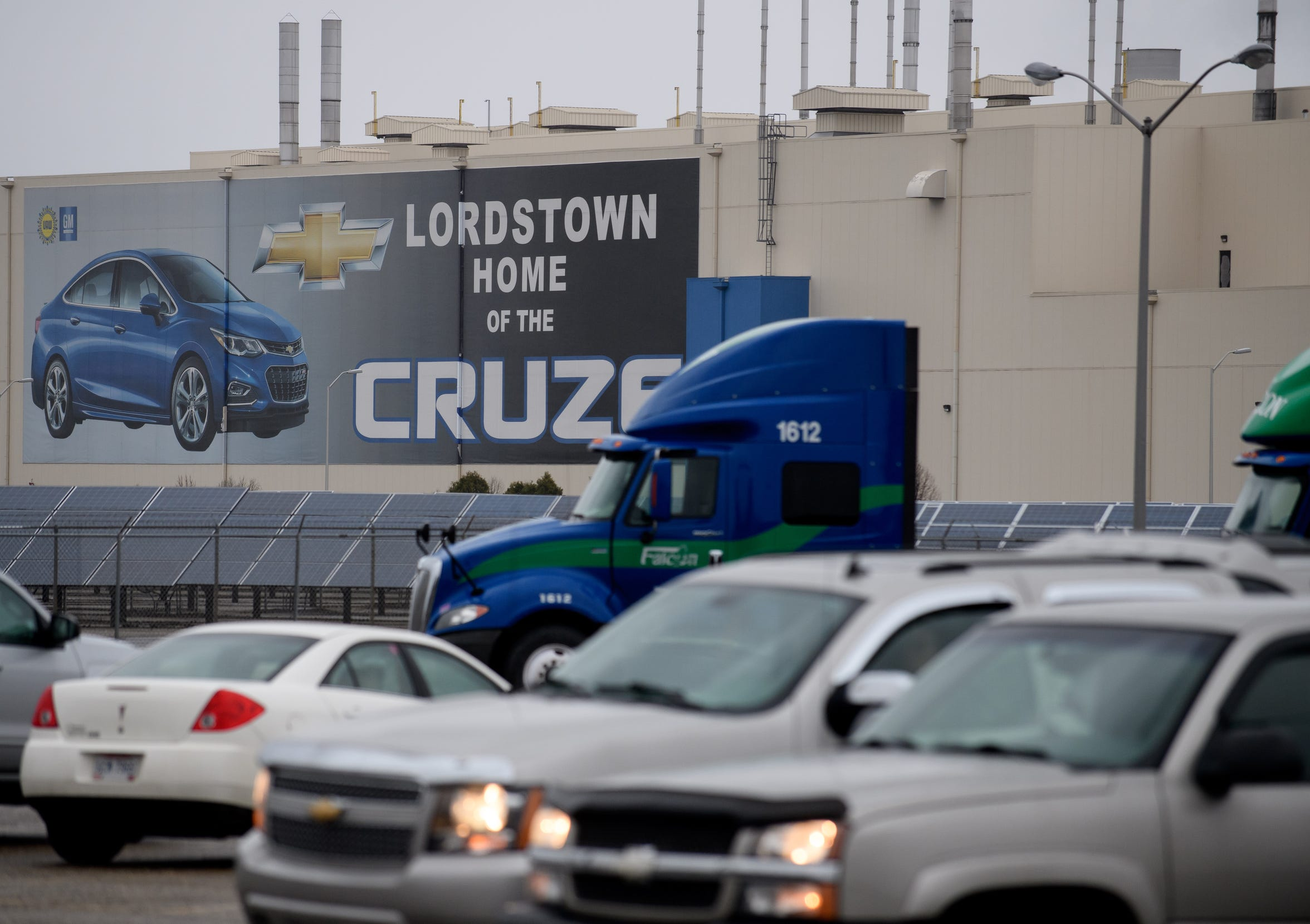 An exterior view of the GM Lordstown Plant on November 26, 2018 in Lordstown, Ohio.