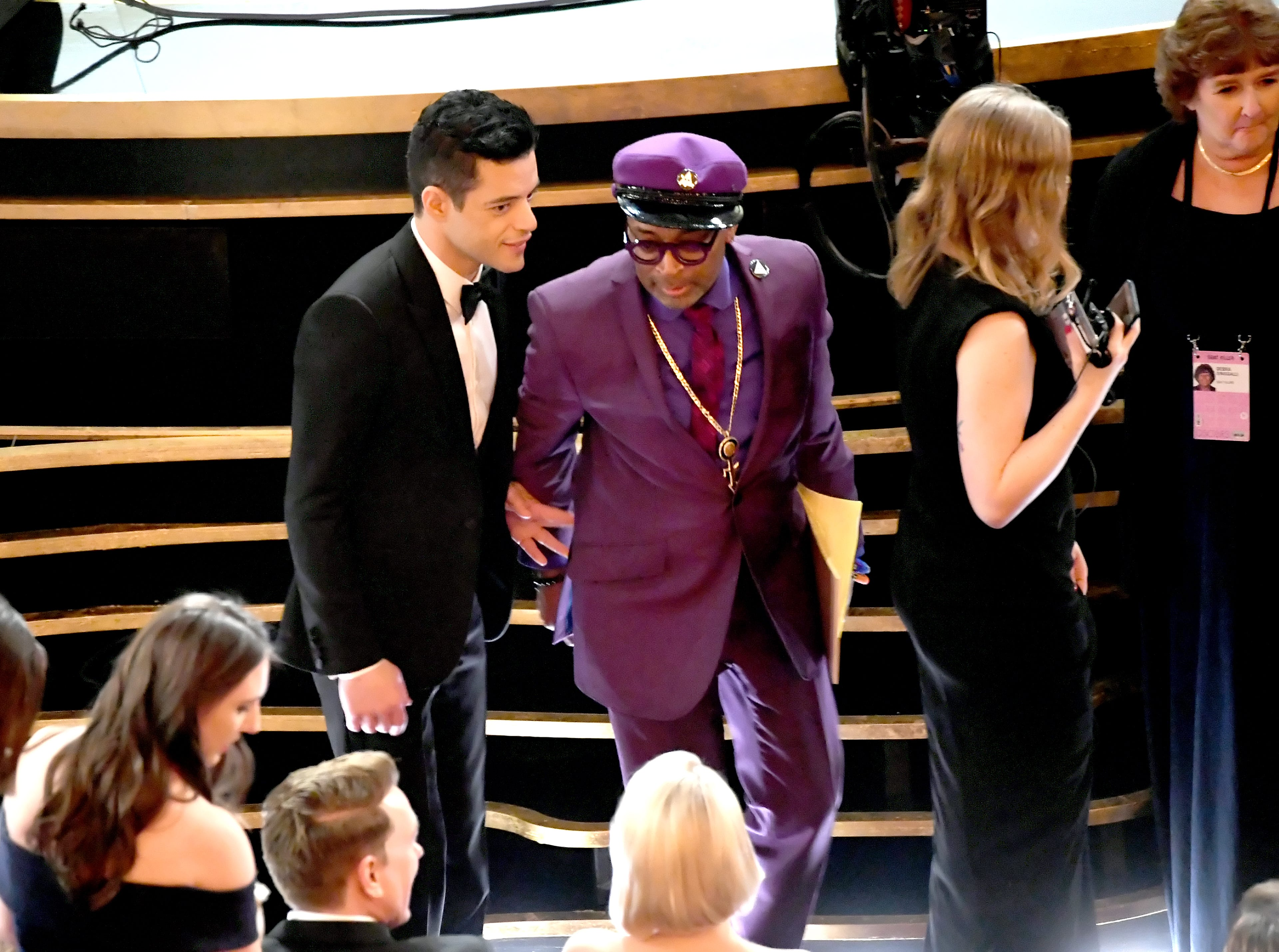 Rami Malek and Spike Lee are seen during the 91st Annual Academy Awards.