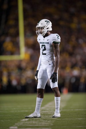Former Michigan State cornerback Justin Layne could work his way into the first round with a strong NFL combine.