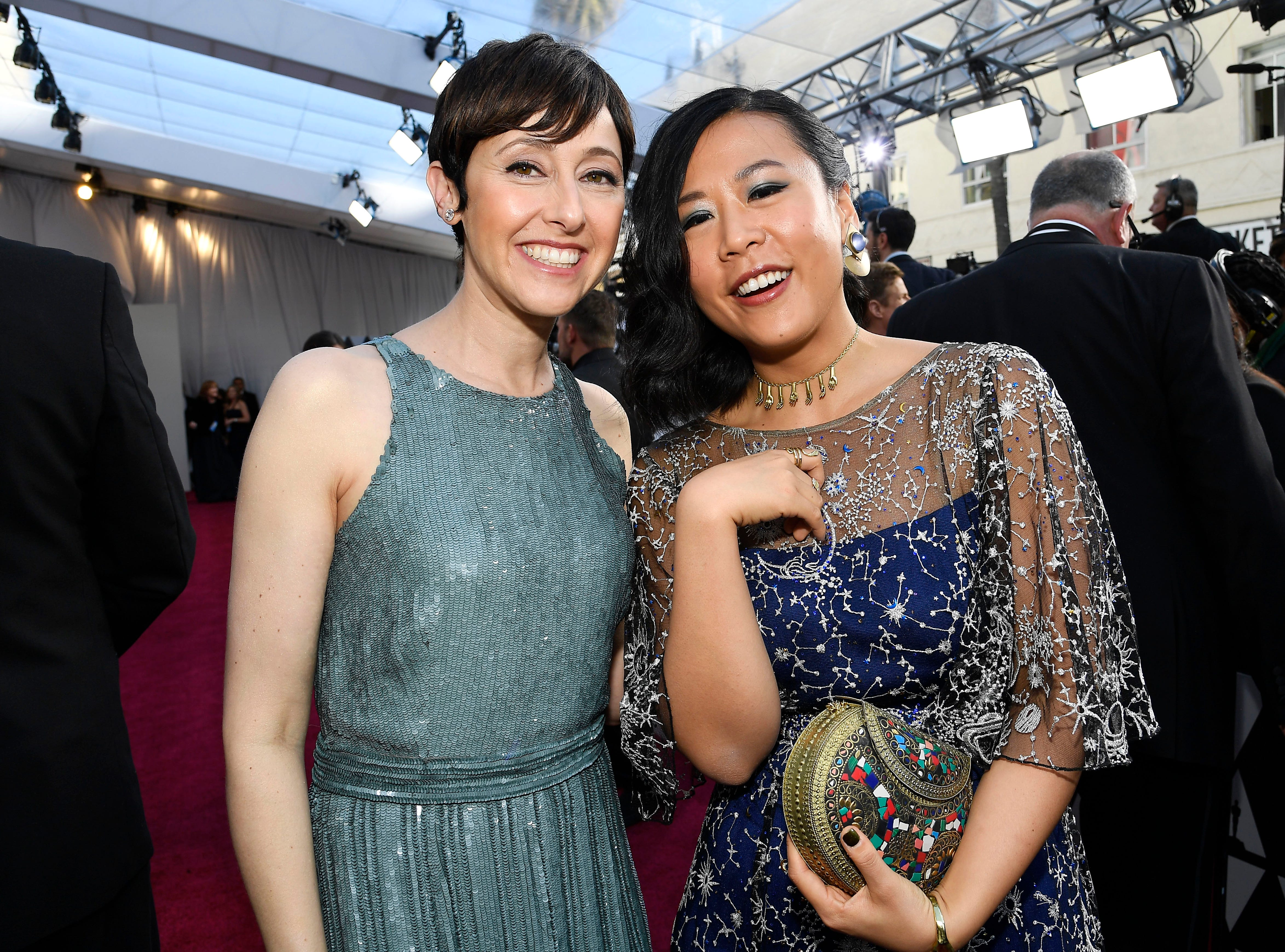 Filmmakers Becky Neiman-Cobb and Domee Shi attend the 91st Annual Academy Awards.