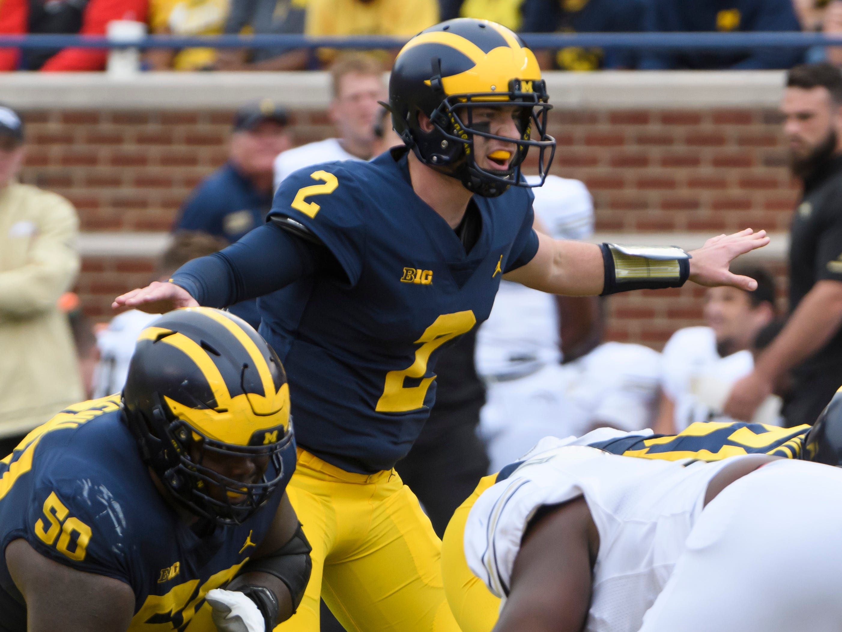 OFFENSE QUARTERBACK: Shea Patterson – Patterson started every game last season after transferring from Ole Miss. He completed 64.6 percent of his passes for 2,600 yards and 22 touchdowns against seven interceptions. He should shine brighter in offensive coordinator Josh Gattis' offense.
