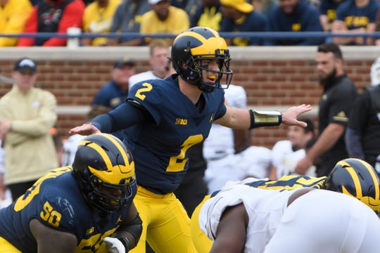 Shea Patterson is preparing for a new look to Michigan's offense this year.
