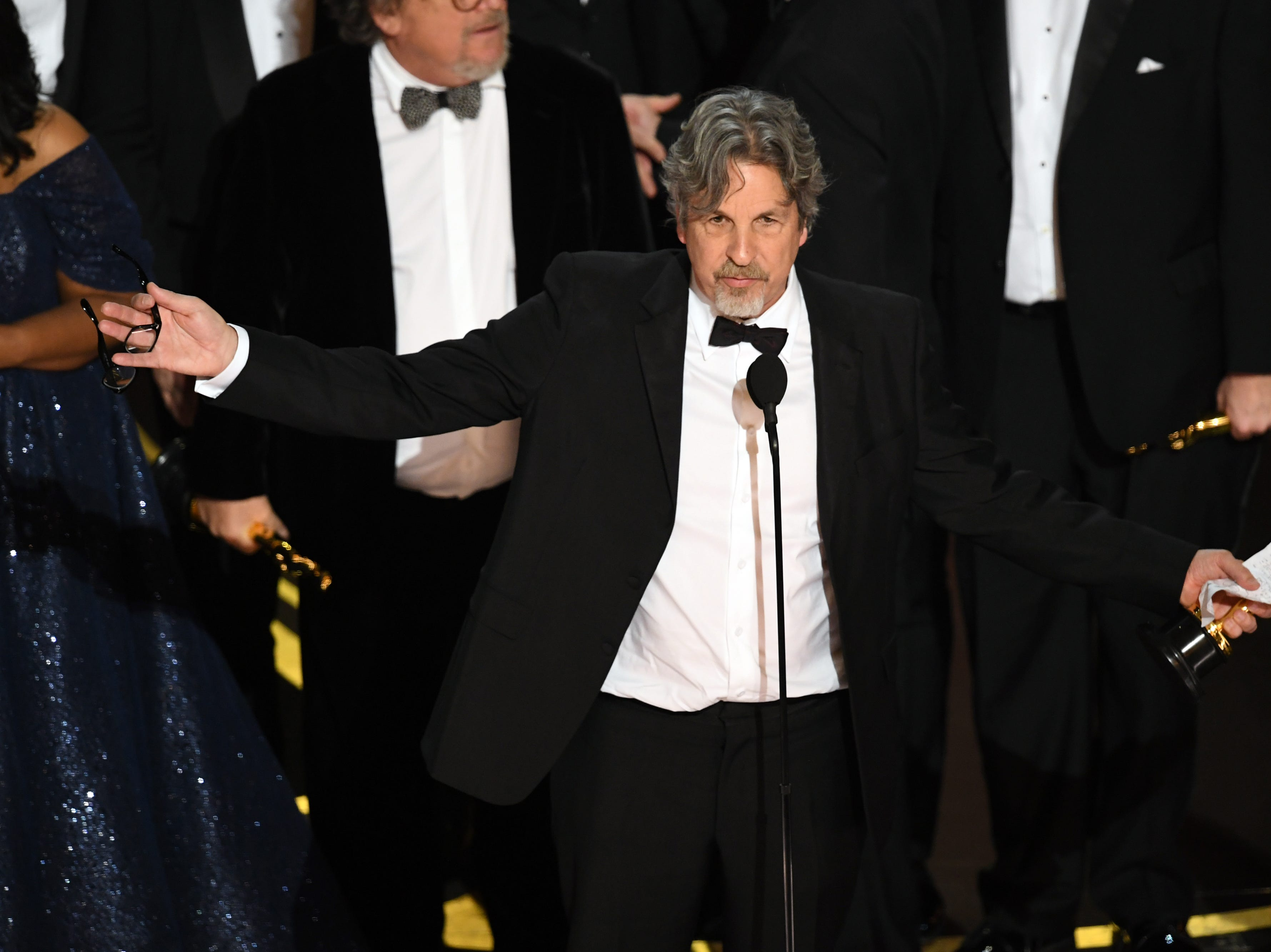 Peter Farrelly accepts the Best Picture award for 'Green Book' onstage during the 91st Annual Academy Awards.