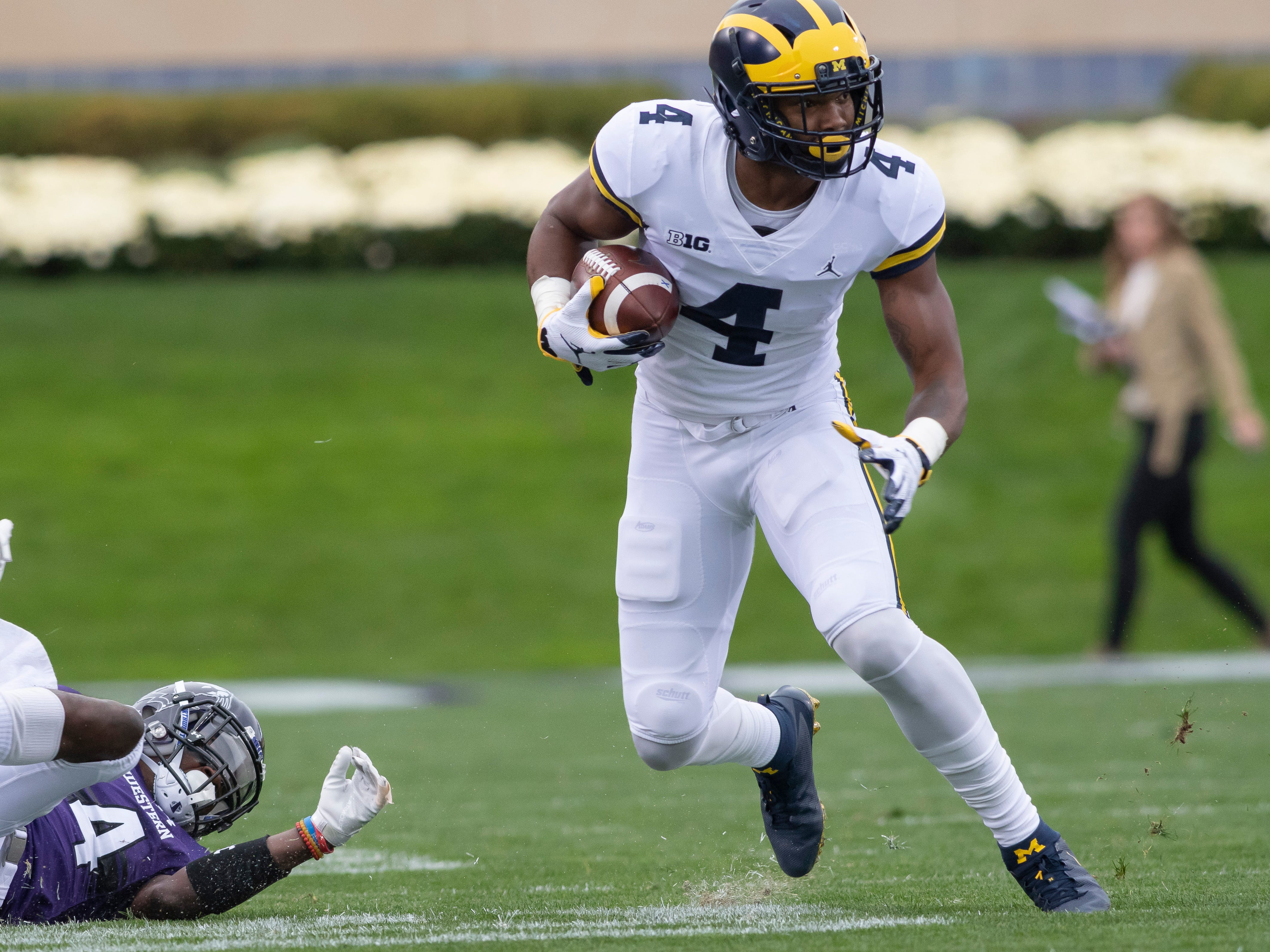 WIDE RECEIVER: Nico Collins – The sure-handed Collins, like Peoples-Jones, will be a junior this fall. He had 632 yards on 38 catches and scored six touchdowns.
