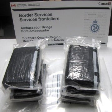 Another 163 pounds of cocaine seized from truck at Ambassador Bridge