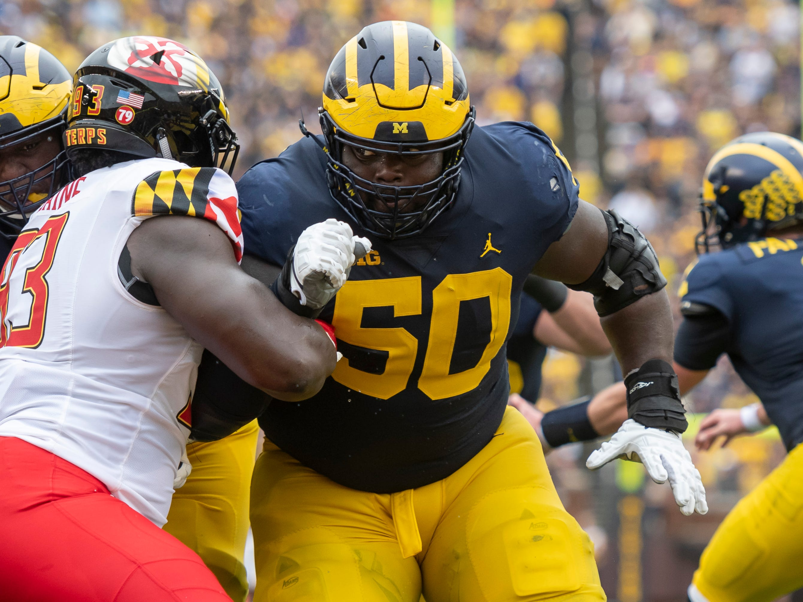 RIGHT GUARD: Michael Onwenu – The Cass Tech product was a third-team All-Big Ten selection last season and has made 21 starts in 33 games played at Michigan.