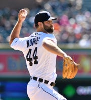 Tigers pitcher Daniel Norris made adjustments in his flat-ground work and in his bullpens, and he was pumping his fastball at 91-93 mph against the Yankees Friday night.