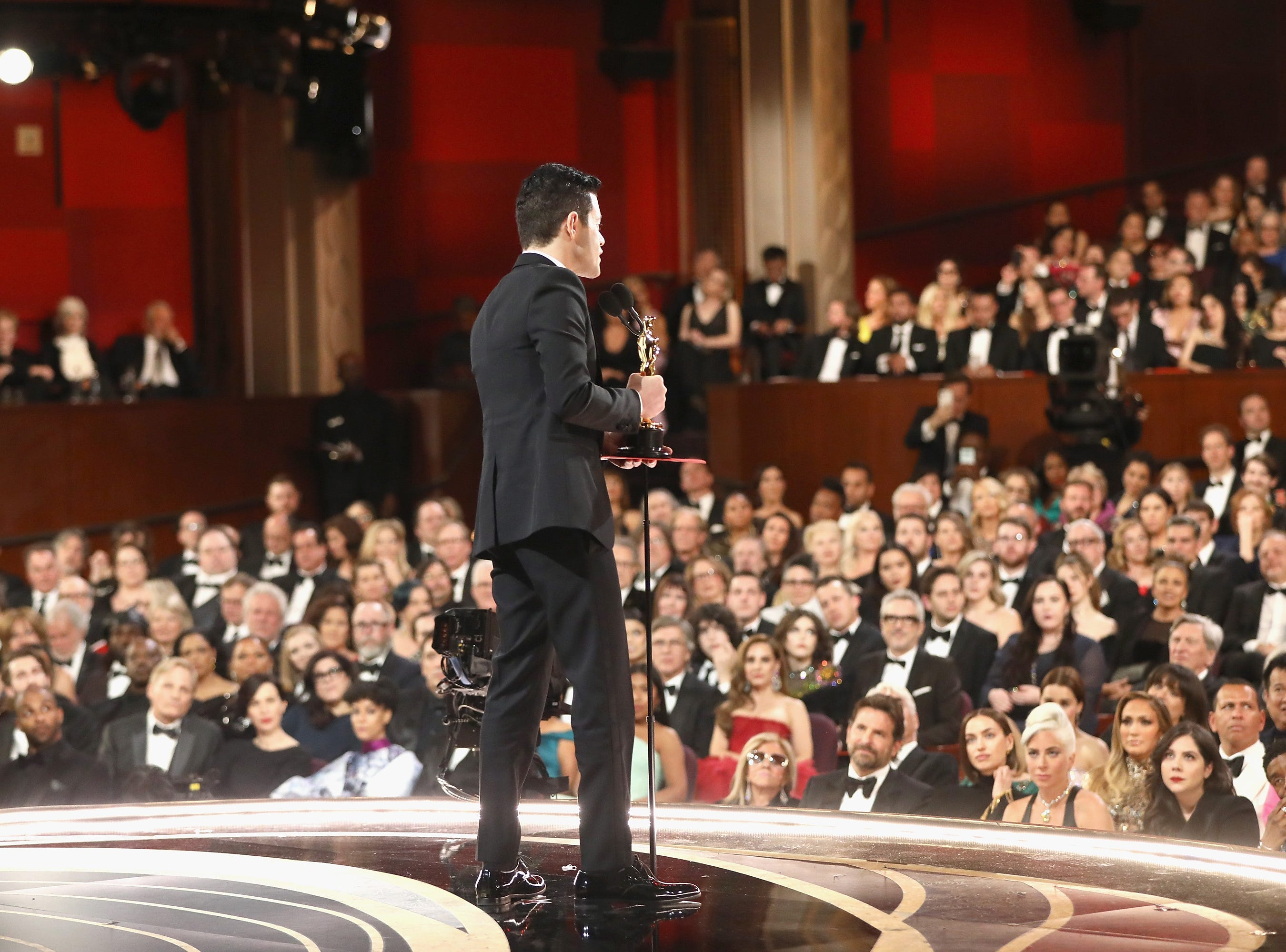 Rami Malek accepts the Actor in a Leading Role award for 'Bohemian Rhapsody' onstage during the 91st Annual Academy Awards at the Dolby Theatre on February 24, 2019 in Hollywood, California.