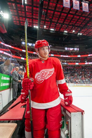 The Red Wings dealt Gustav Nyquist            to the San Jose Sharks early Monday morning.