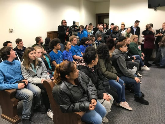 Brown County Circuit Court was packed ahead of hearings for four men facing charges in the shooting death of Federico Abarca. The room was a mix of friends and family for Abarca and the four men.