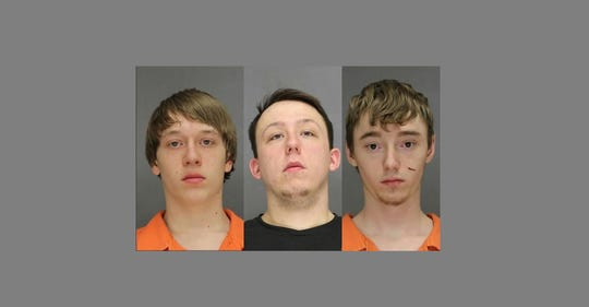 From left: Colton G. Kehoe, Jarid W. Stevens and Jared C. Williquette. Not pictured, Gavin M. Rock