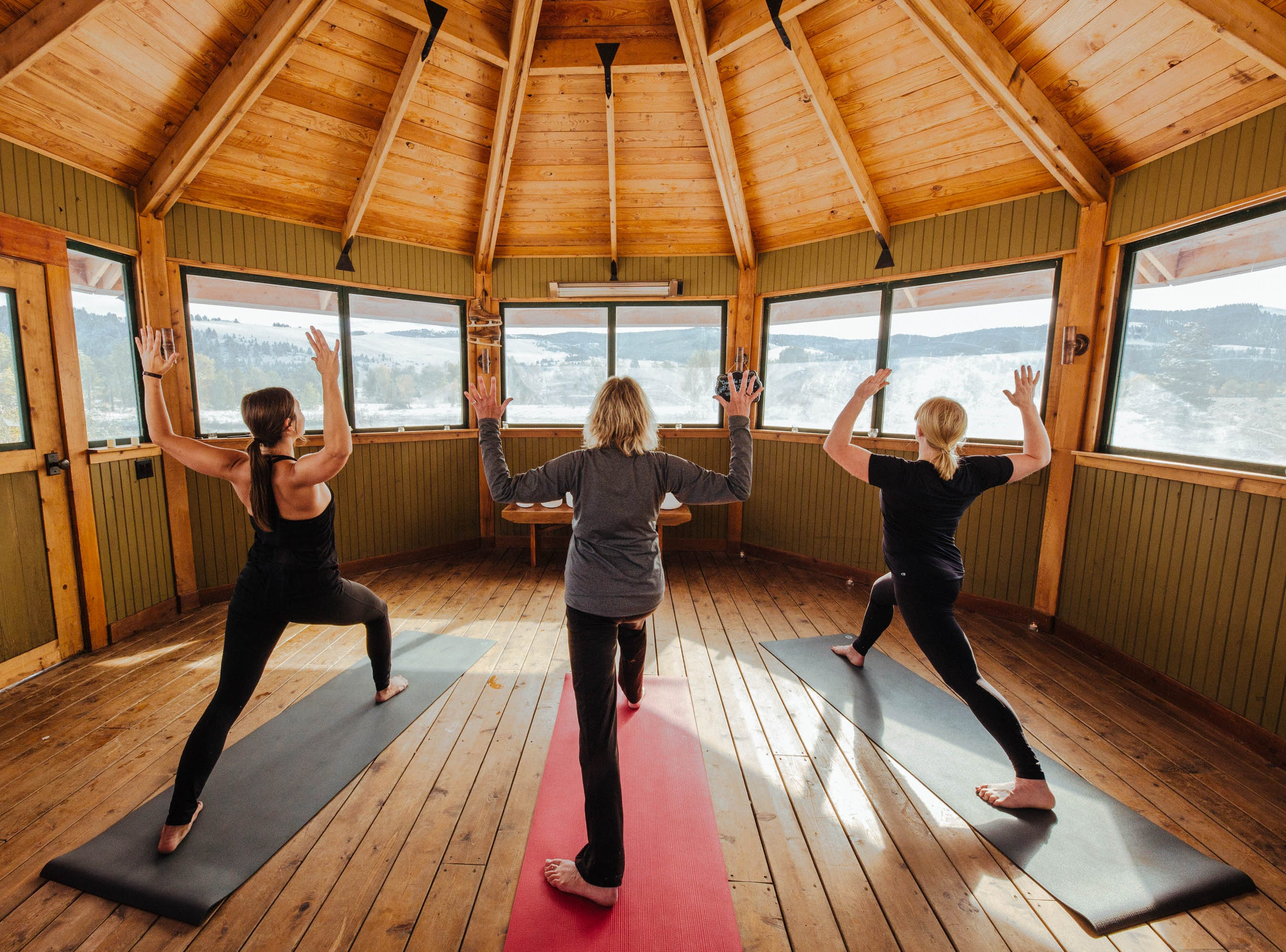 Yoga at The Ranch at Rock Creek, which has a spa