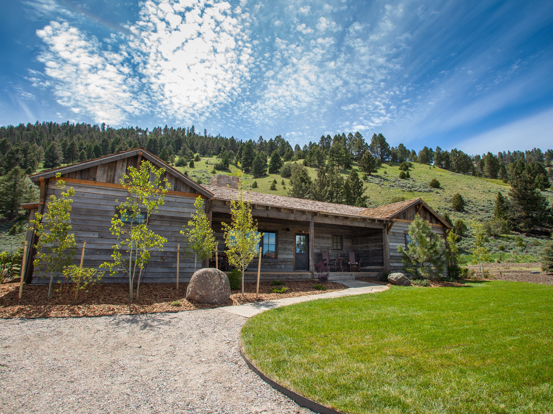 The Ranch at Rock Creek near Philipsburg has multi-bedroom houses available, along with canvas glamping tents, a lodge and a renovated historic barn.