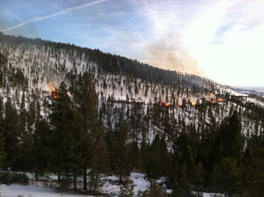 Pile burning in the BLM North Central District