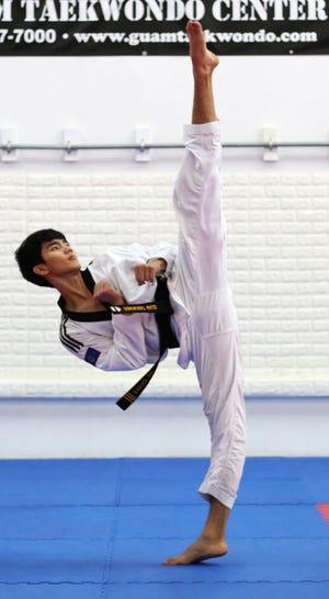 Jed Caluag, a fourth degree blackbelt from Guam Taekwondo Center.