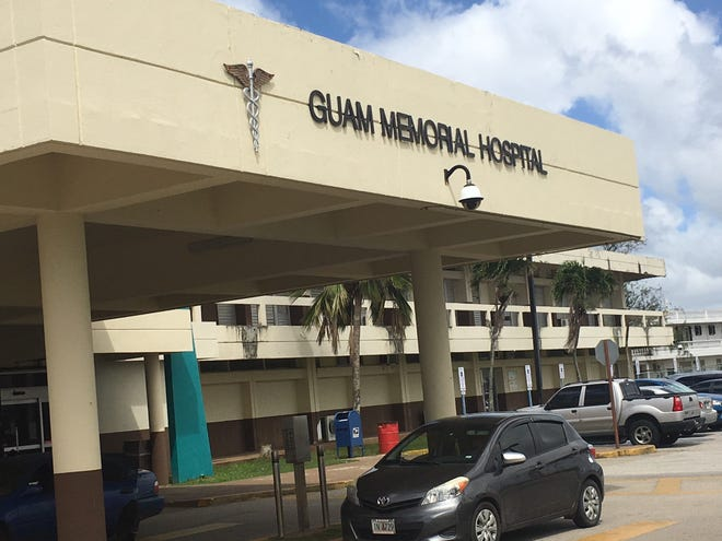 The entrance to Guam Memorial Hospital is shown in this February 2019 file photo. The hospital is getting  $366,989 in Interior funding to train nursing and revenue cycle management staff.