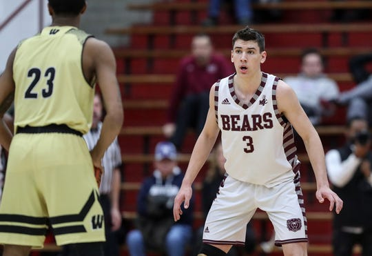 Lawrence Central's Jacob LaRavia leads the Bears with 17.9 points per game.