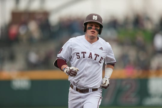 Mississippi State sophomore first baseman Tanner Allen has 17 RBI this season. The next closest Bulldog is senior right-fielder Elijah MacNamee with eight. Photo by Keith Warren
