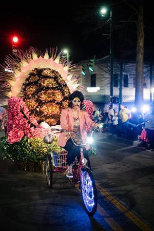 The Krewe de Canailles, the parade without barricades, features no motor vehicles and sustainable throws.