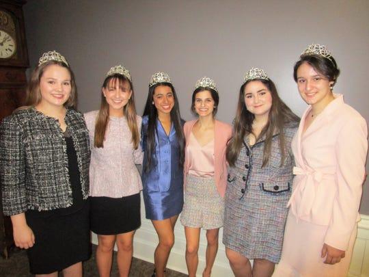 Josie Babin, Katherine Crochet, Angelica Llopis, Alyssa Hebert, Olivia Falterman and Natalie Piccione