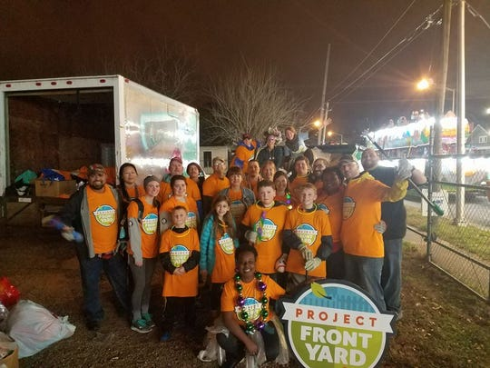 Project Front Yard is partnered with Krewe of Rio to keep the parade route clean.