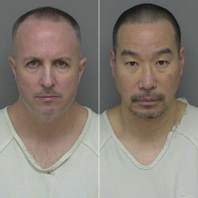 Barry Cadden (left) and Glenn Chin (right) have been charged with 11 counts of second-degree murder in connection with tainted steroids.