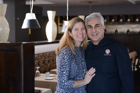 Paula Barmore and Anoosh Shariat,  the power couple behind Anoosh Bistro and Noosh Nosh.