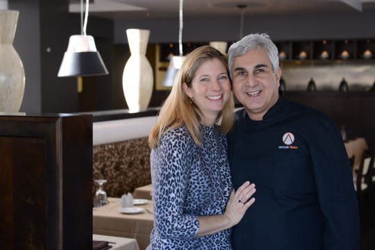 Paula Barmore and Anoosh Shariat,  the power couple behind Anoosh Bistro and Noosh Nosh.