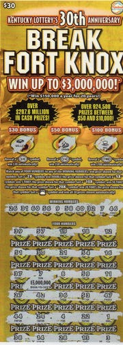 Ft. Knox lottery game