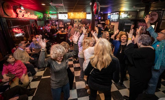 Karaoke night brings out the dancers at Check's Cafe. Jan. 17, 2019.