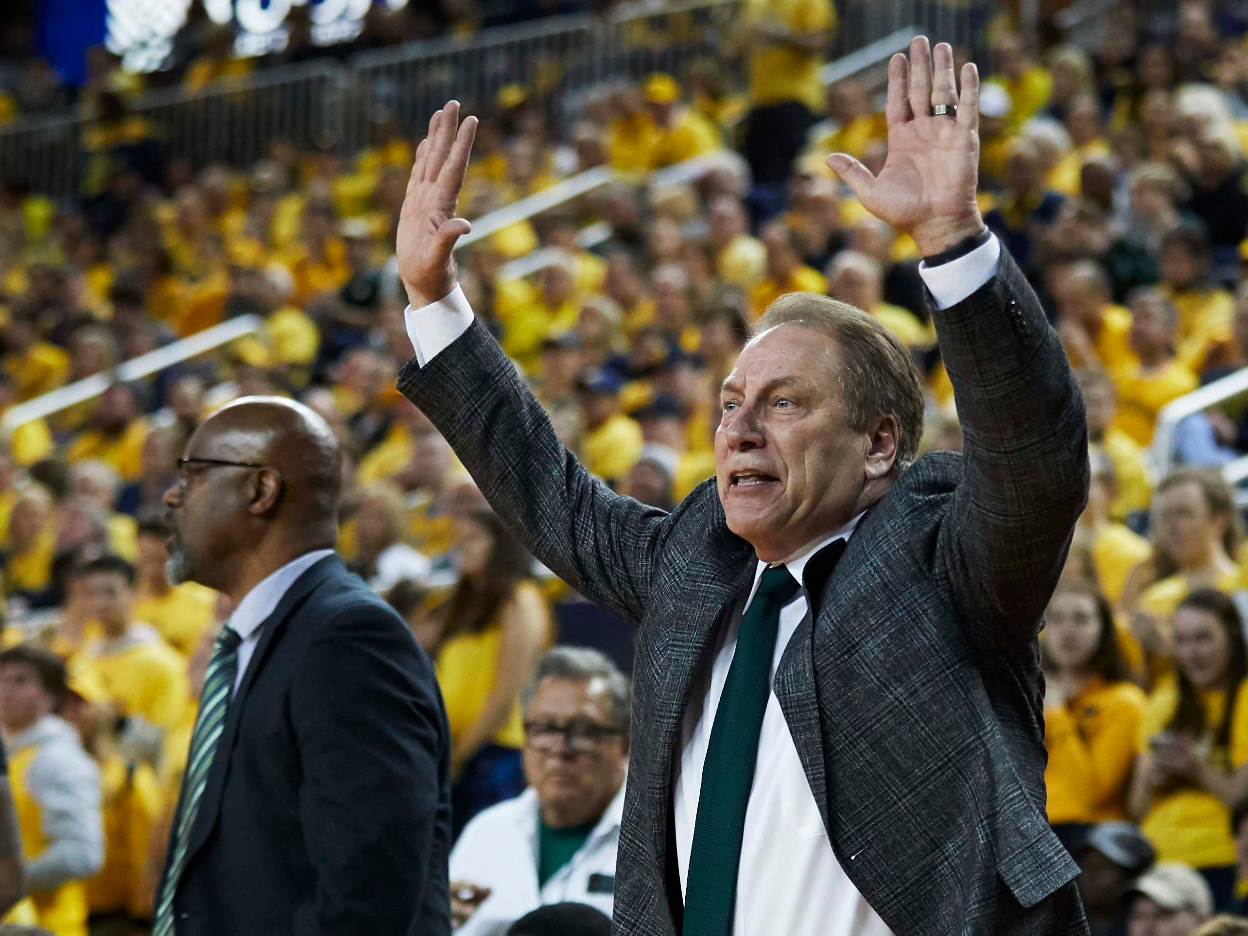 Michigan State Spartans head coach Tom Izzo during the second half against the Michigan Wolverines at Crisler Center.