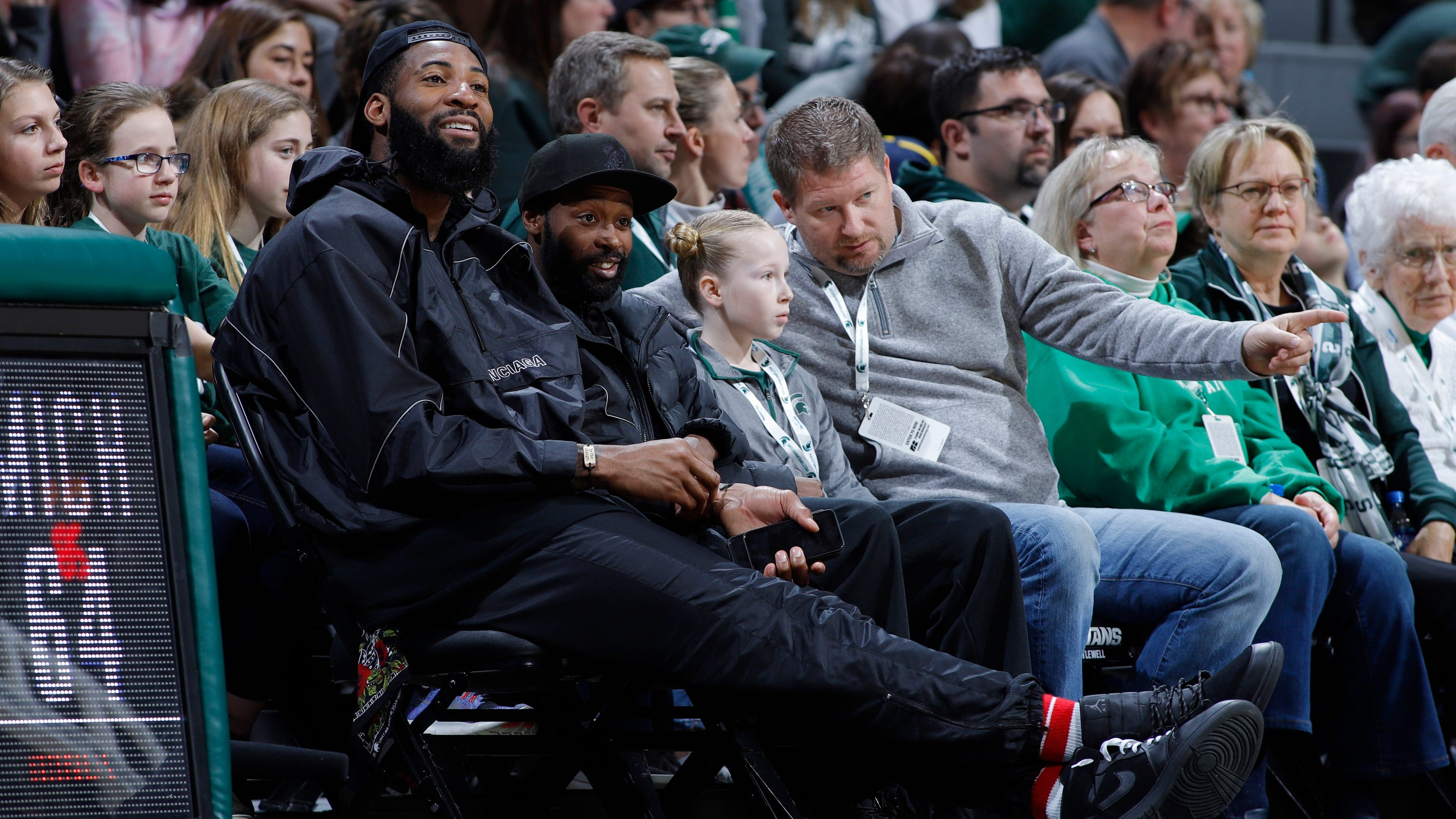 2e84936c970 Here s why Pistons star Andre Drummond was at the MSU-Michigan women s  basketball game