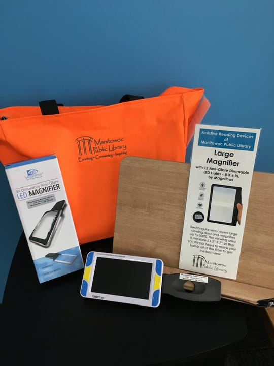 Assistive device available at Manitowoc Public Library.