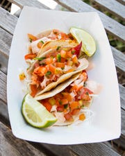 Lobster Tacos are one of the offerings on the new Cousins Maine Lobster food truck. The food truck's grand opening is this weekend.