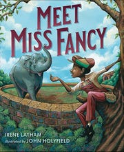 """Meet Miss Fancy"" by Irene Latham, illustrated by John Holyfield."