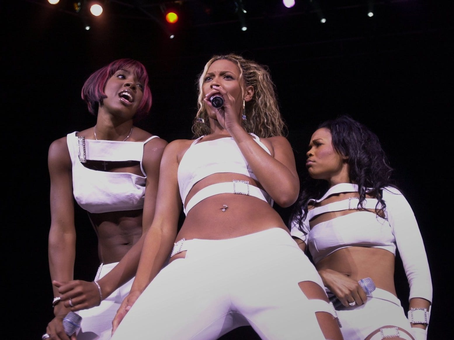Destiny's Child, Kelly Rowland (left), Beyonce Knowles and Michelle Williams perform at the Marcus Amphitheater on July 2, 2001, the group's last Milwaukee concert. Beyonce has yet to perform in Milwaukee as a solo artist.