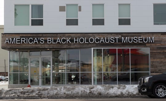 The America's Black Holocaust Museum is shown Monday, Feb. 25, 2019 at 401 W. North Ave. in Milwaukee. The museum plans on reopening to the public later this year. The museum chronicles experiences of African Americans before they were enslaved through the current national and local civil rights struggles.