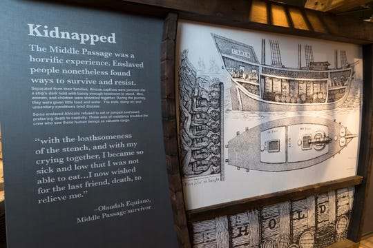 A exhibit detailing a slave ship is shown Monday, February 25, 2019 at America's Black Holocaust Museum, 401 W.North Ave. in Milwaukee, Wis. The museum plans on reopening to the public later this year. The museum chronicles experiences of African Americans before they were enslaved through the current national and local civil rights struggles.