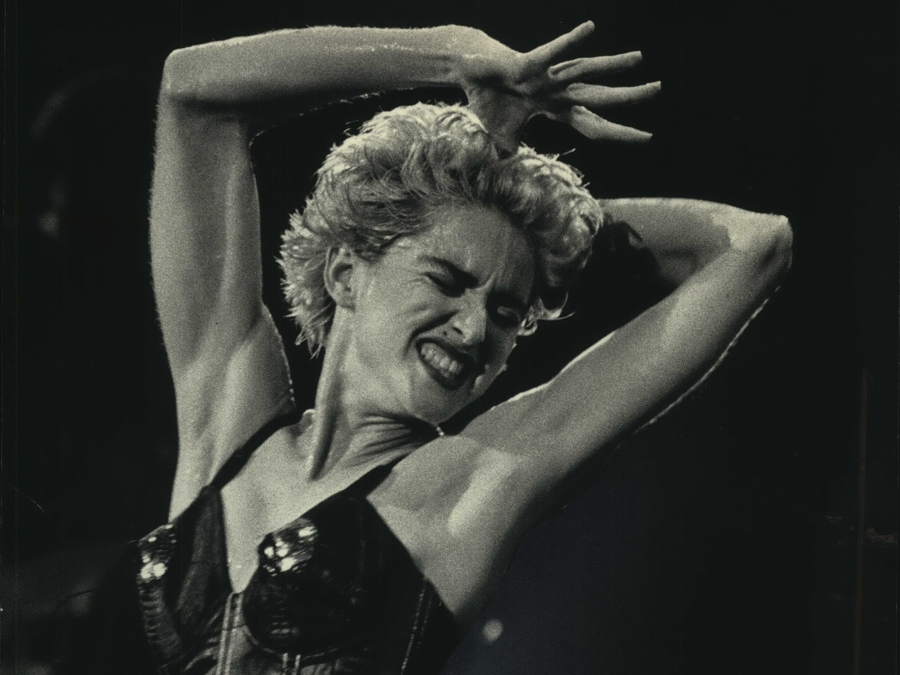 Madonna danced and sang before a crowd of 24,000 at Alpine Valley Music Theatre on Aug. 2, 1987. She has not performed in the Milwaukee area in the 32 years since.