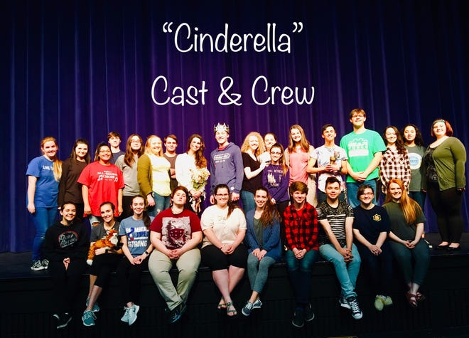"""The Mountain Home High School Bomber Theatre troupe will present Rodgers and Hammerstein's """"Cinderella"""" as it's spring musical at 7 p.m. March 1-2 and 2 p.m. March 3 at Dunbar Auditorium.The 2013 Broadway revival includes classic songs, with a few new twists and a Tony nominated libretto by Douglas Carter Beane. Members of the cast and crew include: (first row, from left)Taylor Basford, Katie Vacco, Myia Treat, Laura Wheat, Jenna Galloway, Allie Parsons, Levi Priborsky, Brandon Ruiz, Suzanna Pickers, Rebekah Jackson, (second row)Elizabeth Britt, Grace Avants, Carlie Corales, Orrin Wilson, Ashtyn House, Ashton Kincade, Tristen Nothwehr, Isabelle Babin, Nate Duval, Amelia Blair, McKynlee Williams, Bria Digiandomenico, Savannah Conly, Bryan Nevarez, Simon Podsiadlik, Lauren Nelson, Brianna Ifland andRachel Robertson. Admission is$12 for adults and $6 for students. Doors will open 30 minutes prior to curtain and concessions will be served in the lobby."""