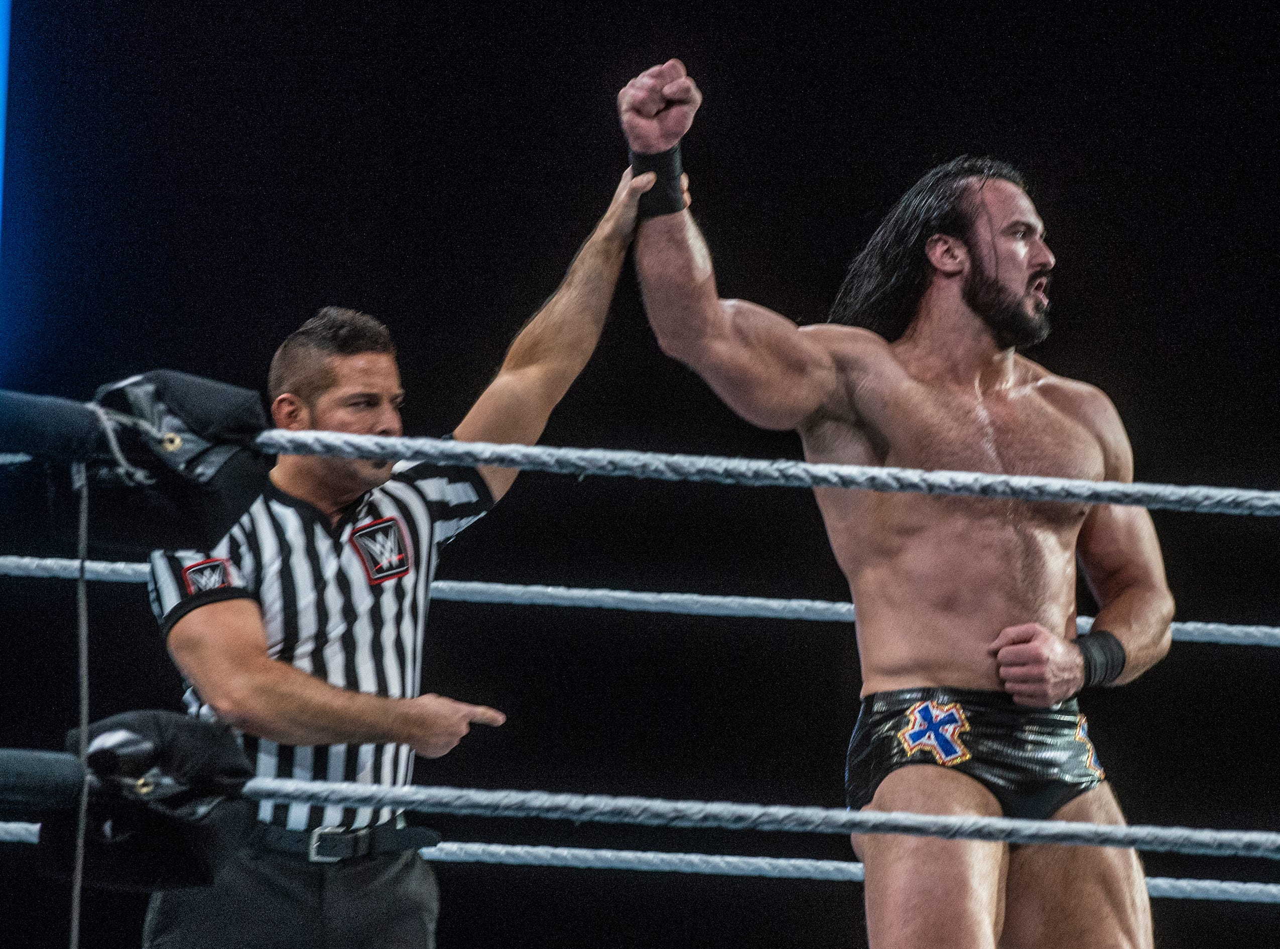 Drew McIntyre takes the win. WWE Live Road to Wrestlemania came to Garrett Coliseum in Montgomery on Sunday, Feb. 24, 2019.