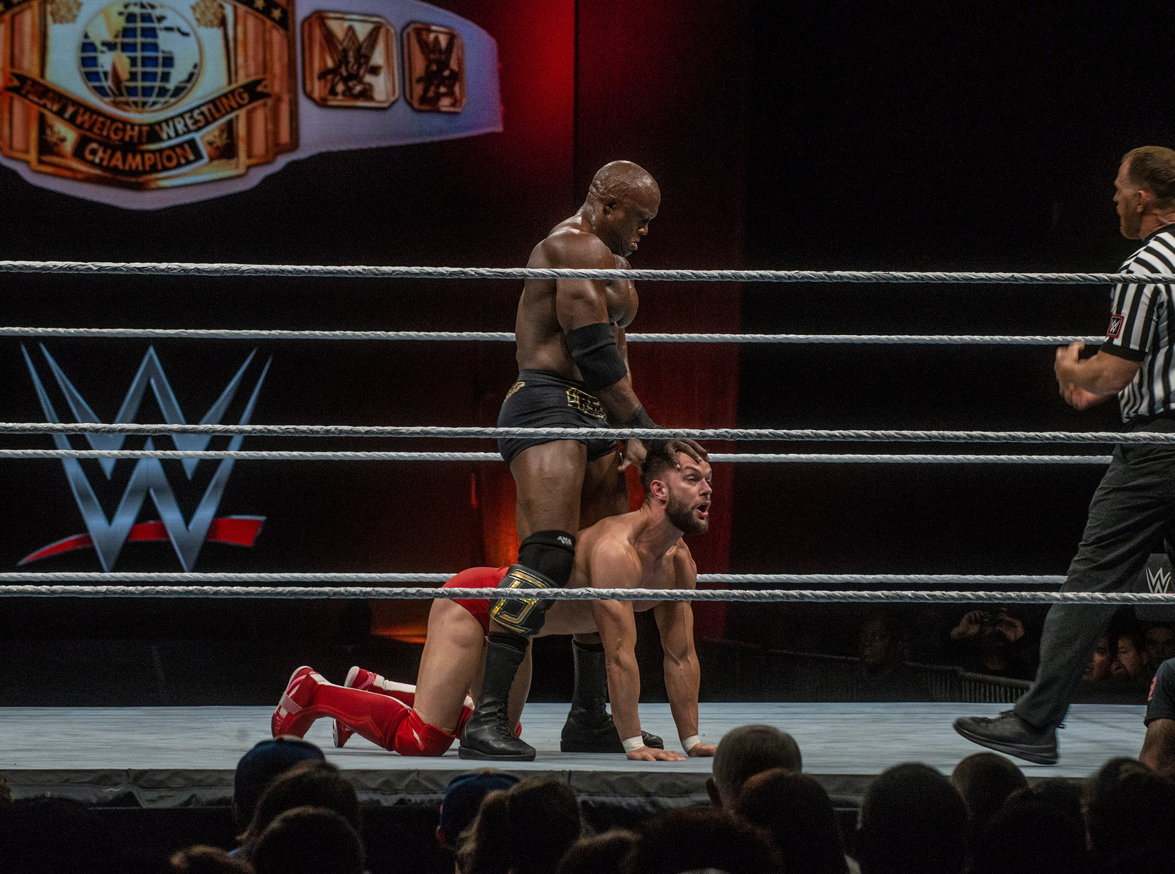 Intercontinental Heavyweight Wrestling Champion Finn Balor defends his title against Bobby Lashley. WWE Live Road to Wrestlemania came to Garrett Coliseum in Montgomery on Sunday, Feb. 24, 2019.