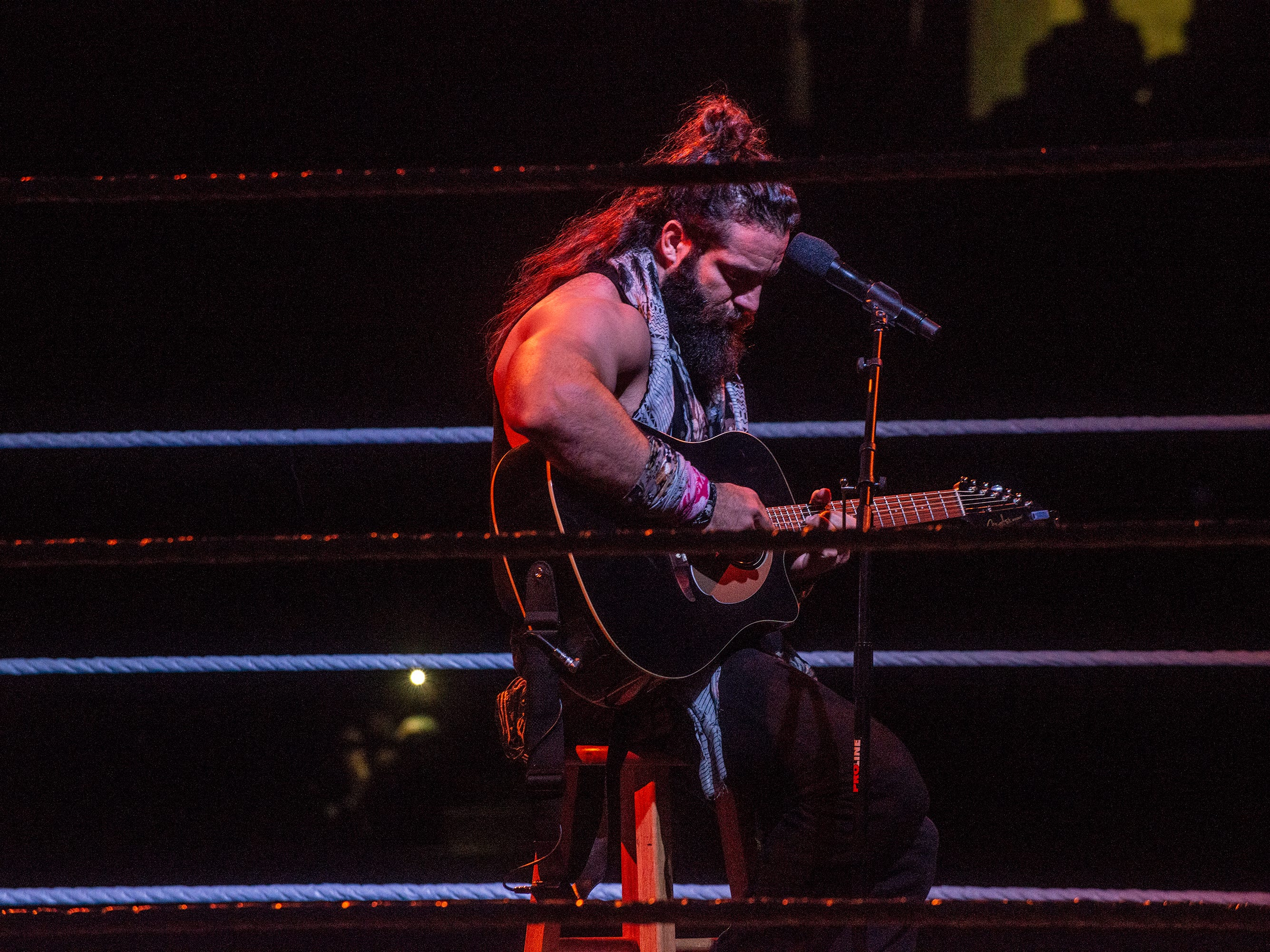 Elias came out ready to play guitar for the crowd. WWE Live Road to Wrestlemania came to Garrett Coliseum in Montgomery on Sunday, Feb. 24, 2019.