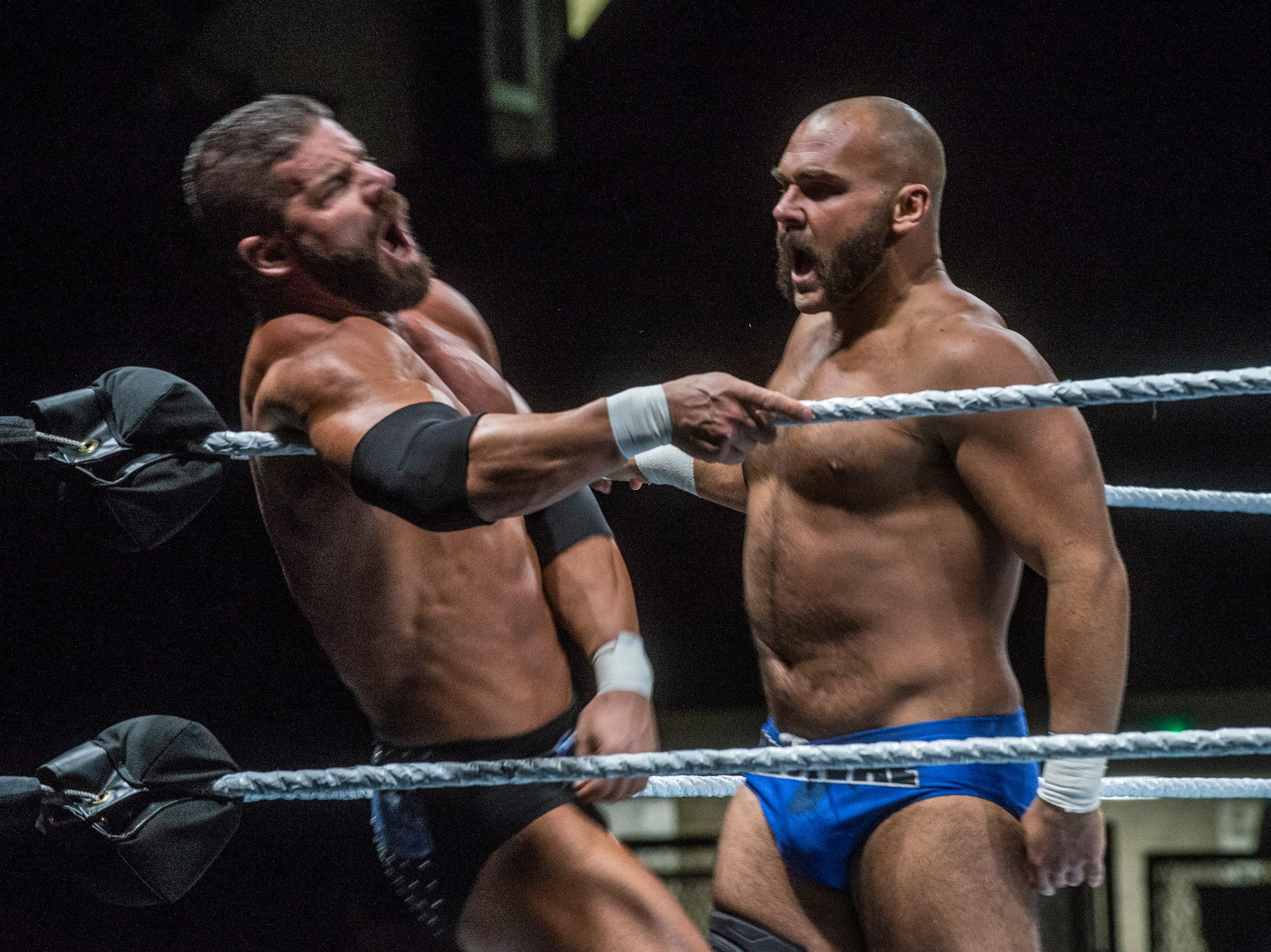 Bobby Roode and Chad Gable vs. Raw Tag Team Champions The Revival - Dash Wilder and Scott Dawson - in a tag team championship match. WWE Live Road to Wrestlemania came to Garrett Coliseum in Montgomery on Sunday, Feb. 24, 2019.