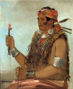 George Catlin's painting of the Tenskwatawa, 1830.
