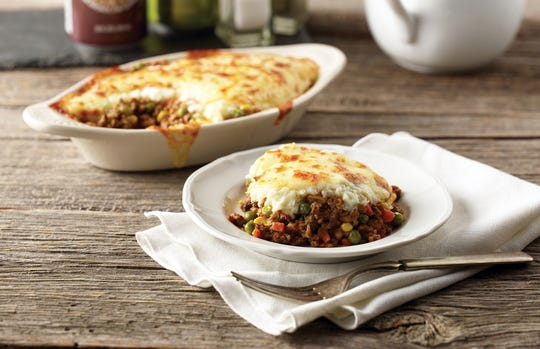 Shepherd's pie, a classic comfort dish, is made in-house at TooJay's Deli.