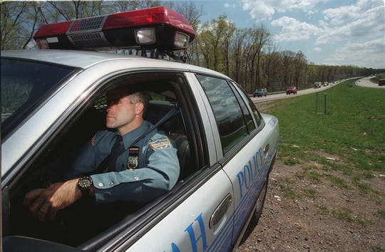 Capt. Stephen Jaffee as a patrol officer in April 1998.
