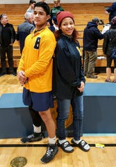 David Guerra and Alisa Safforld of Belleville qualified for the NJSIAA championships at Boardwalk Hall in Atlantic City.