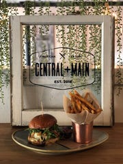 C + M burger at Central + Main in Madison is a winner
