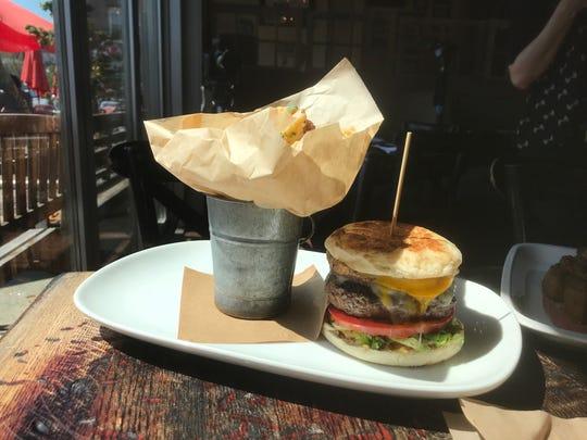 South + Pine beef burger